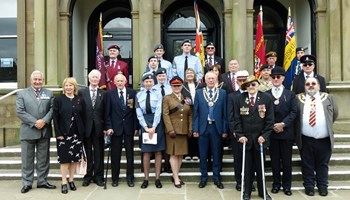 Armed Forces Day is marked with parade in Skipton