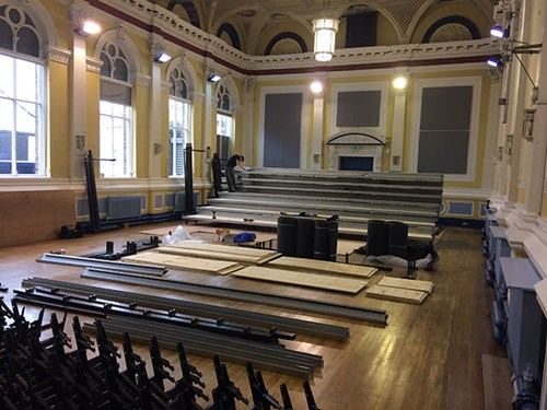 Town Hall seating installation