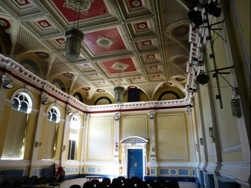 Town Hall interior and ceiling