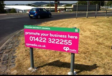 Roundabout advertising - example signage