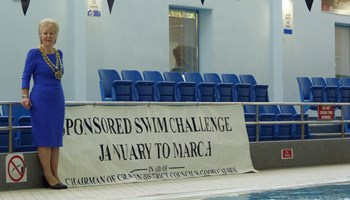 Council chairman launches charity swim challenge